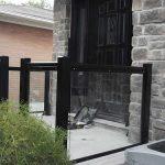 Aluminum-Glass-Railing-During-Installation----New-Market-Ontario by aluminumwindowstoronto.ca