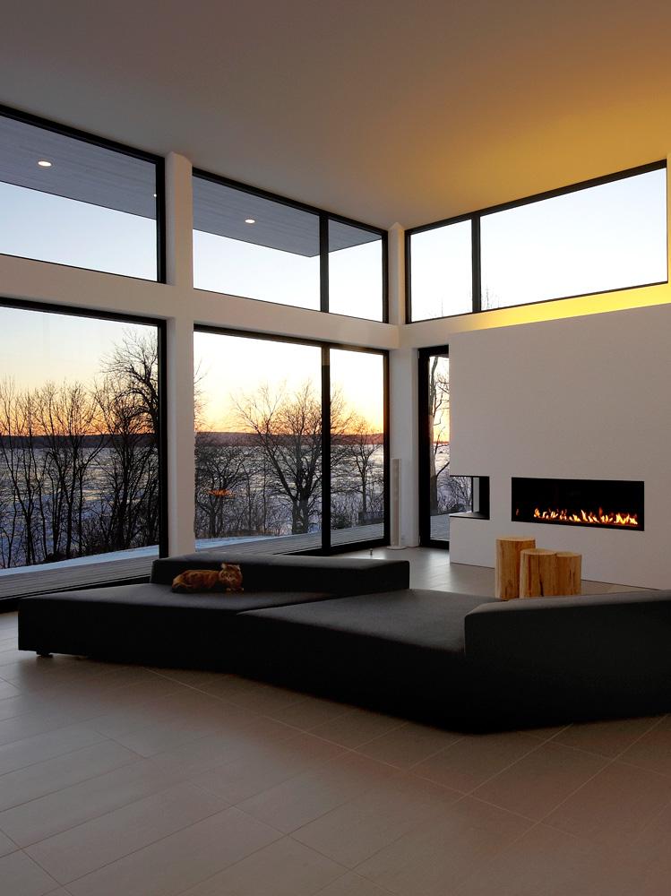 Aluminum Glass Wall : Aluminum oversized fix windows glass wall by