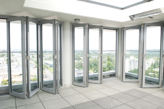 Aluminum folding doors gallery for Commercial entry doors