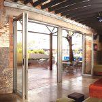 Exterior Folding Door Application-Commercial Aluminum Doors