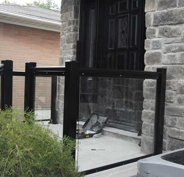 Aluminum-Glass-Railing-During-Installation-New-Market-Ontario
