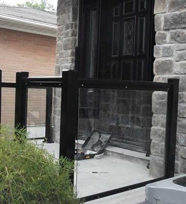 Aluminum-Glass-Railing-During-Installation-New-Market-Ontario