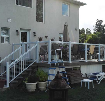 Aluminum-Glass-Railing-Installation-for-Backyard-Deck-in-Markham-Ontario by Aluminum Windows Toronto