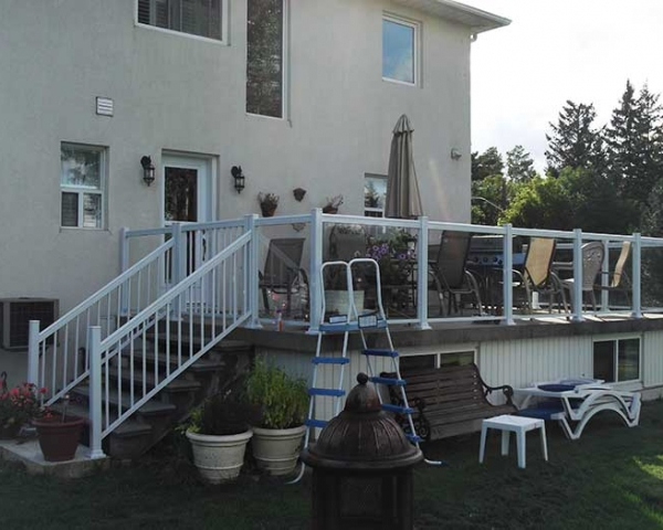 Aluminum-Glass-Railing-Installation-for-Backyard-Deck-in-Markham-Ontario by Aluminum Windows Toronto