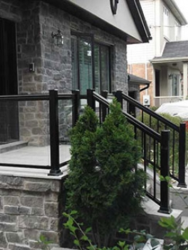 Aluminum-Glass-Railing-Installation-in-New-Market-Ontario by aluminumwindowstoronto.ca