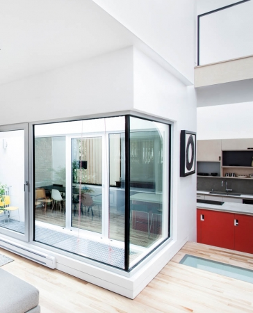 Aluminum Oversized Fix Window and Aluminum Oversized Tilt and Turn Door by Aluminum Windows Toronto