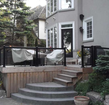 Aluminum-Railing and Glass-Installation-in-Custom-Home-Richmond-Hill by Aluminum Windows Toronto