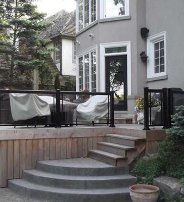 Aluminum-Railing and Glass-Installation-in-Custom-Home-Richmond-Hill by Aluminum Windows Toronto