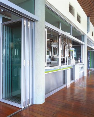 Commercial Exterior Folding Door Application-Aluminum sliding-doors-commercial