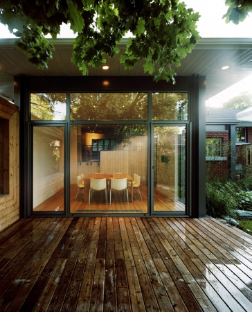 Downtown remodel with giant aluminum window and door by Aluminum Windows Toronto