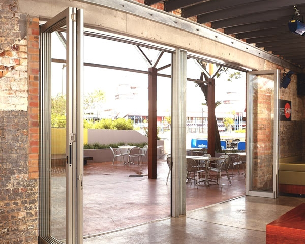 Exterior Folding Door Application-Commercial Aluminum Doors