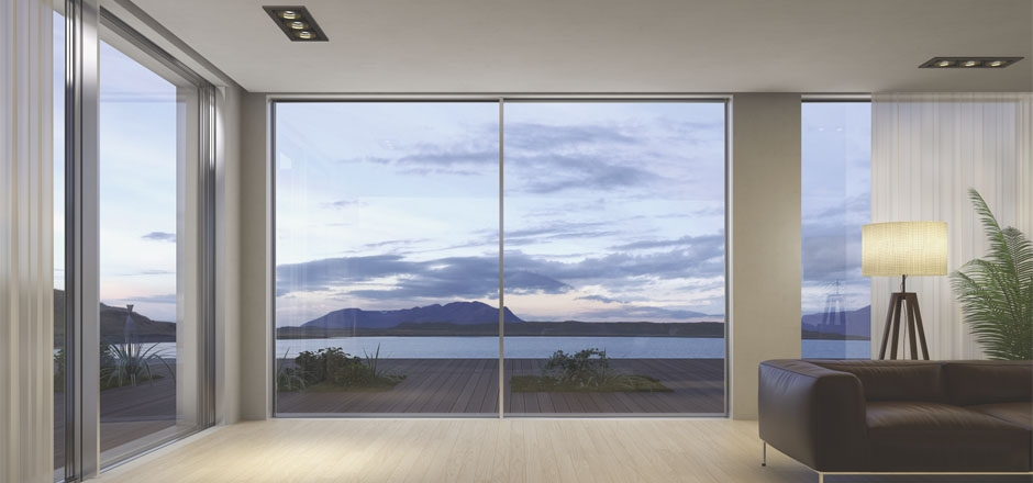 Zero sight line sliding door